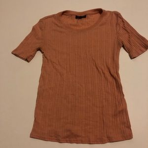 Dusty rose TopShop ribbed top